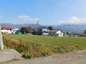 飯山市坂井の広い土地
