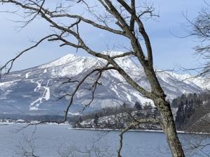 野尻湖畔からの妙高山
