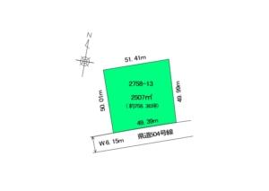 道路と敷地の関係図